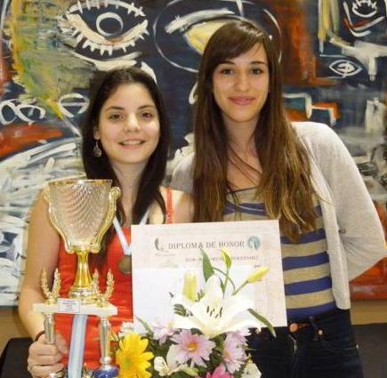 florcinthya junto a Cintia ramirez, presidenta de la Federacion de San Luis,