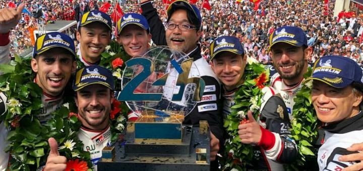 podio Le Mans 2018