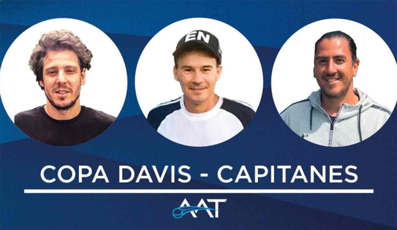 Gaudio, Coria y Cañas, capitanes de Copa Davis