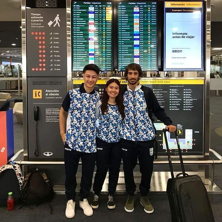 Dante, Azul y Valentín en los Juegos Olímpicos de Invierno de la Juventud