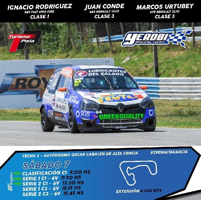 El Yerobi Racing con tres autos en Alta Gracia