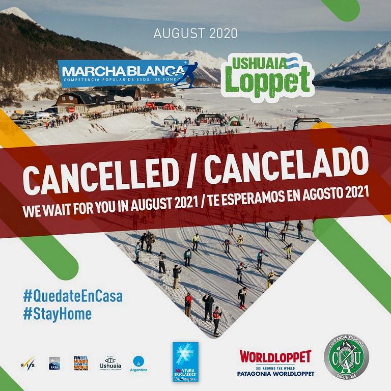 ¡ULTIMO MOMENTO! Marchablanca / Ushuaia Loppet canceladas