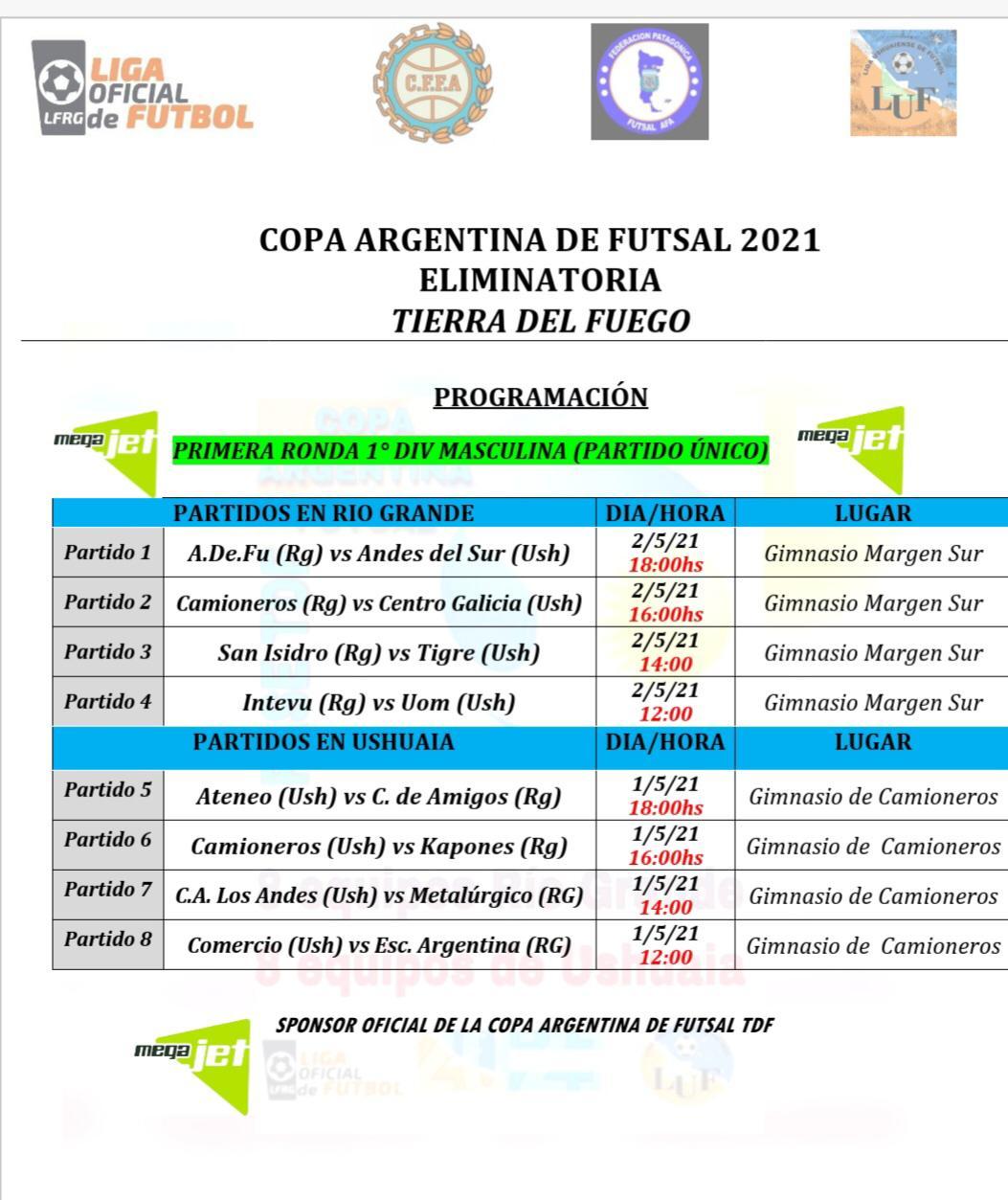 Días y horarios para la instancia provincial de la Copa Argentina